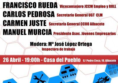 EL PSOE DE ALBACETE ORGANIZA UNA JORNADA SOBRE EMPLEO EN EL MARCO DEL DÍA INTERNACIONAL DEL TRABAJO